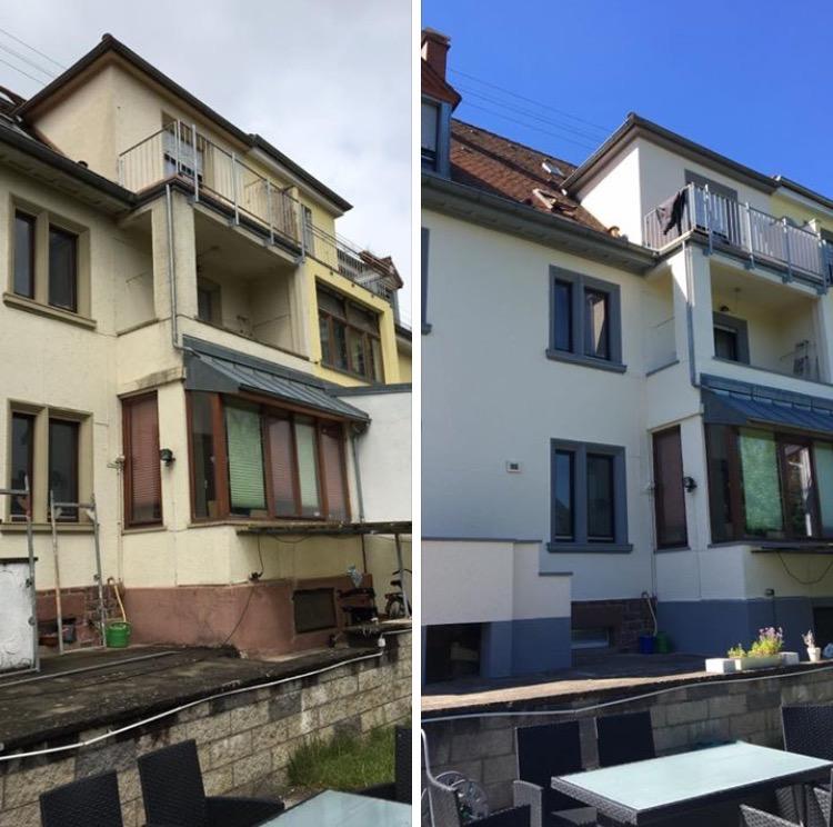 Fassade Gipserarbeiten Vergleich Renosan Sanierung